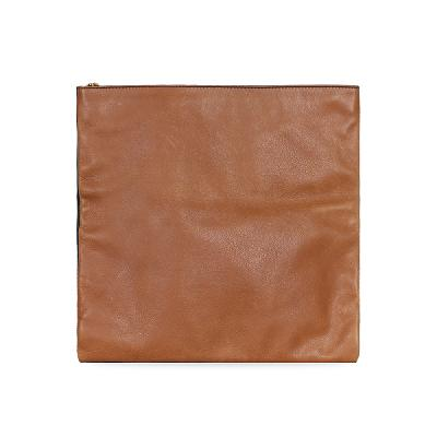fold over clutch bag brown